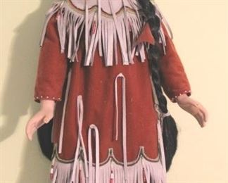 80 - Native American Porcelain Doll