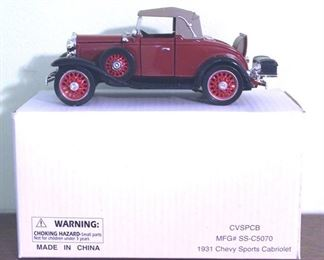 91 - 1931 Chevy Sports Cabriolet Diecast Model