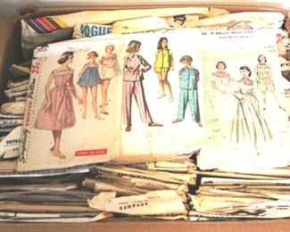 171 - Box Lot of Assorted Vintage Sewing Patterns