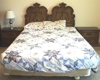206 - Full Size Bed w/ Mattress & Covers