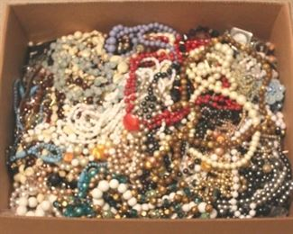 222 - Tray Lot of Assorted Costume Jewelry