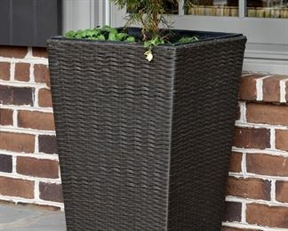Several of these wicker inspired planters