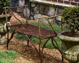 Artisan Iron Bench