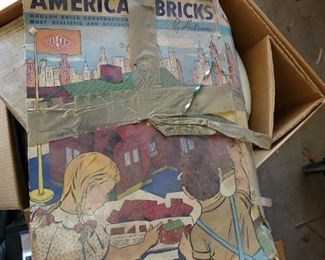 American bricks vintage toy not Legos