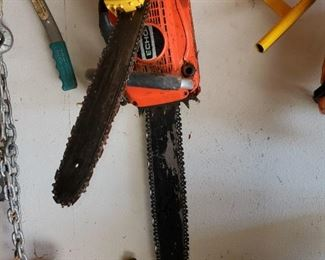 Gas and electric chain saw