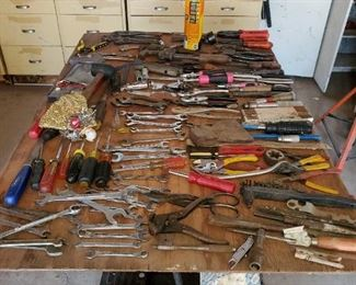 More hand tools, pliers, screw drivers, wrenches