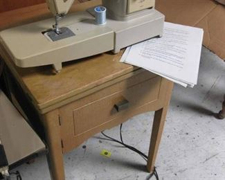 Vintage Sewing Machine & Cabinet