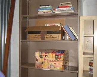 Metal Bookcase Sandlewood