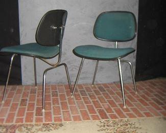 Herman Miller School Chairs (3 Teal / 1 Blue)