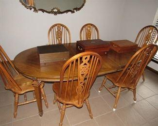 Nice oak dining set