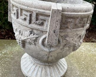 concrete planters. Make sure you have help getting this to your vehicle....