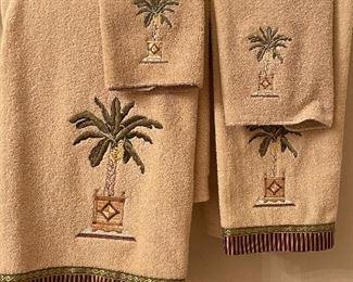 Palm tree towels