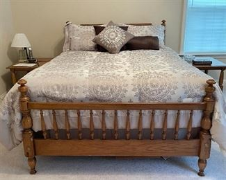 Lovely vintage solid wood full size bed. Flawless....