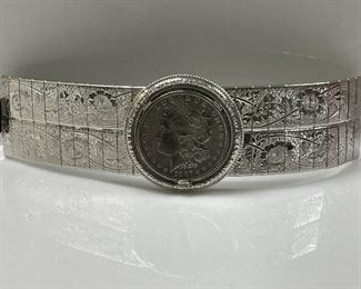 MORGAN 1887 that is made into a wearable bracelet