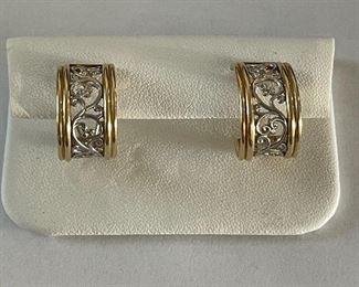 14 Karat Israel gold earrings
