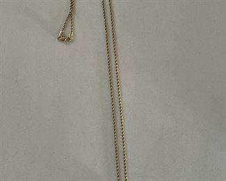 10 karat diamond pave heart necklace