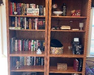 Solid Oak book cases