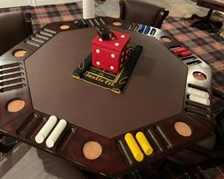 """61. Imperial International Poker Table (54"""" x 31"""") and 6 Chairs"""