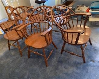 #12Windsor Wood Chairs (sold as a set of 5) $150.00
