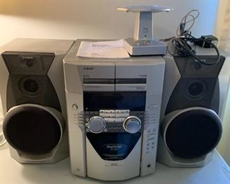 #16Sony Mini-HiFi Compact Disc/CD Player Radio w/2 speakers  Model MHC3AB $75.00
