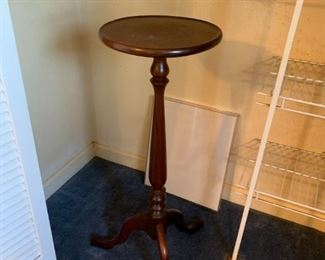 "#17	Wood Fern Stand (Top needs to be attached)  33""Tall	 $45.00"