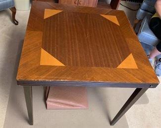 #32Vintage Card Table (wood folding legs) $20.00