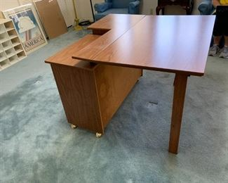 #44Laminate Sewing Desk w/Pull-out Table behind  40x16.5-40x20 $30.00