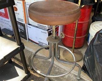 """#69Adjustable Stool on Wheels  30"""" Tall $30.00"""
