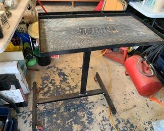 #75Torin Rolling Work Table Metal - adjustable Height $60.00