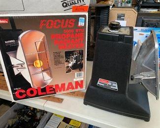 #85Coleman 5000BTW Propane Radial Heater $25.00