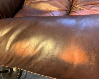 #101(2) Brown Electric Leather Recliners  (as is worn)    $100 (worn), $150 (better condition)