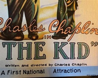 """#120Charlie chaplin in """"The Kid"""" Fabric - Movie poster by Westco - 1982 $35.00"""