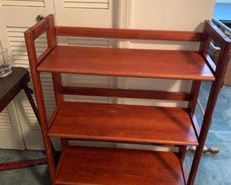 #130Foldable 3 shelf Bookshelf  28x12x36 $75.00