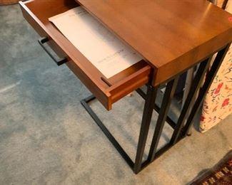 #131Tray Table w/Drawer & metal Base  $30.00