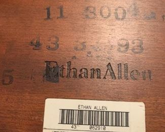 #136Ethan Allen Rectangular End Table  13x7.5x18 $20.00