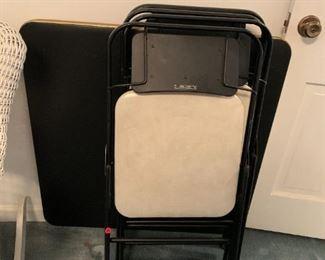 #137Black samsonite Card Table w/4 Chairs $30.00