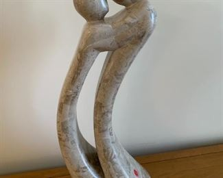 """#139Marble Statue of a couple 22"""" Tall  $75.00"""