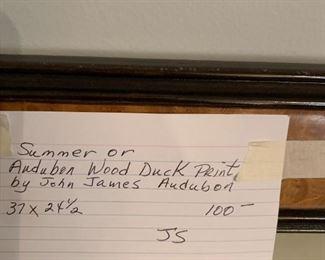 #151Summer of Audubon Wood Duck Print by John James Audubon Print $100.00