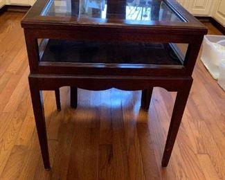 #158Shadow Box End Table  18x14x22 $75.00