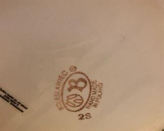 """#164Polish Pottery w/Strawberries 10.5""""x6.5"""" $60.00"""