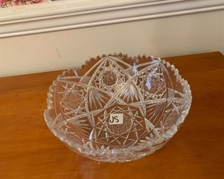 #165American Brilliant Cut Glass Bowl 9x3.5 $75.00