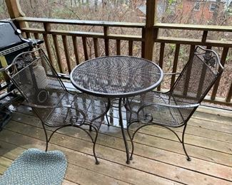 """#175Patio Table 30""""X28"""" w 2 chairs $75.00"""