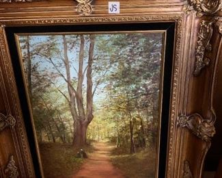"""#178Toni Trevaire Painting in gold frame 23X28"""" $75.00"""