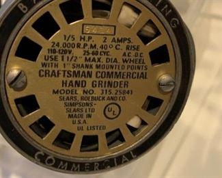 #183Craftsman comercial hand grinder $20.00