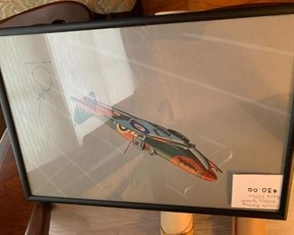 """#185Aircraft Painting Vickers """"Spitfire"""" Harry Jaffee $30.00"""