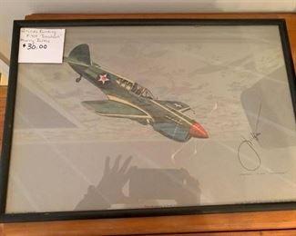 "#187Aircraft Painting P-40F ""Tomahawk"" Harry Jaffee $30.00"
