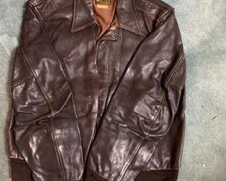 #196Vintage Air Bomber Jacket Leather $30.00