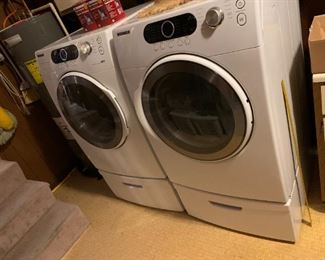#40Samsung Washer Front Loader on pedistal Model WF32AAW $300.00  #41Samsung dryer Front Loader on pedistal Model DV328AEW $300.00