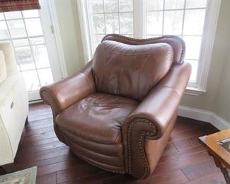 $180.00 each, Pair of leather chairs Vg condition
