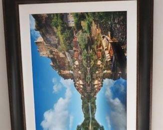 Large coastal photograph from art fair